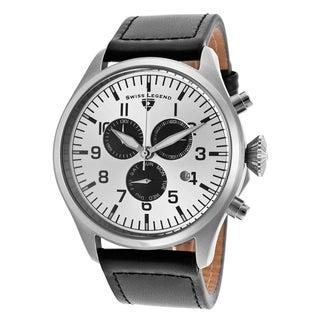 Swiss Legend Men's SL-30332-02S-BA Pioneer Stainless Steel Black Strap Watch