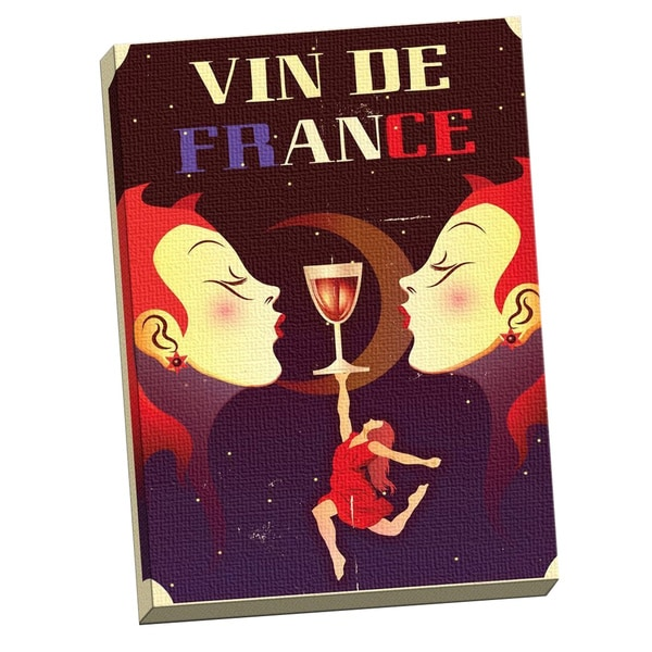 Portfolio 'Vin De France' Large Printed Canvas Wall Art