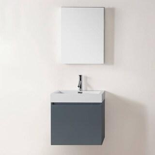 Zuri 24-inch Grey Single Sink Bathroom Vanity Set
