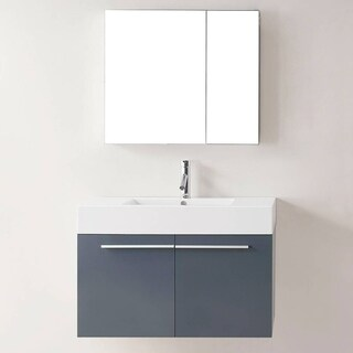 Midori 36-inch Grey Single Sink Bathroom Vanity Set