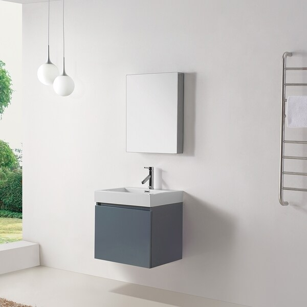 Virtu Usa Zuri Four Inch Grey Single Sink Bathroom Vanity Free Shipping Today Overstock Com