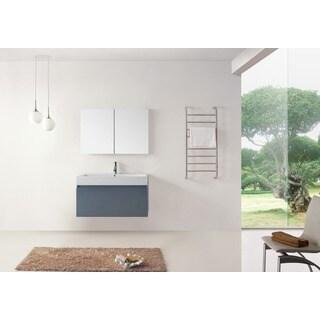 Virtu USA Zuri 39-inch Grey Single Sink Bathroom Vanity