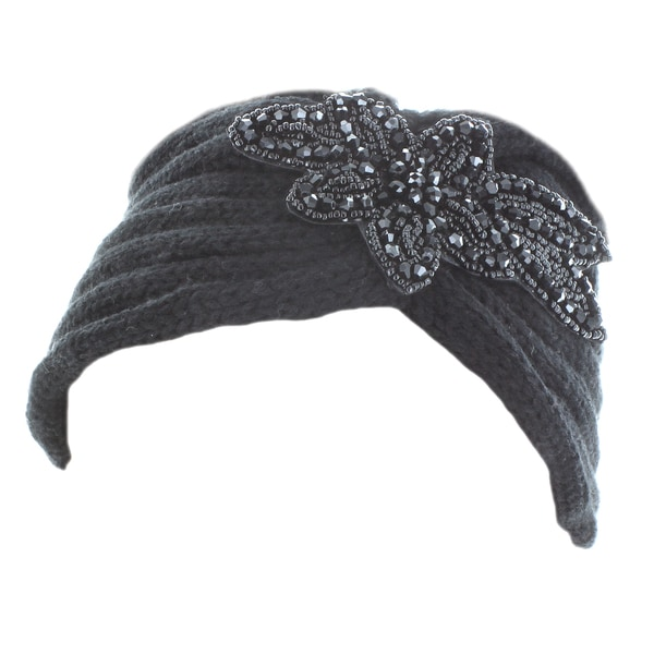 Kate Marie 'Diane' Beaded Floral Patch Headband