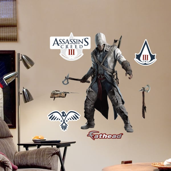 Fathead Jr. Assassins Creed Connor Battle Ready Decals