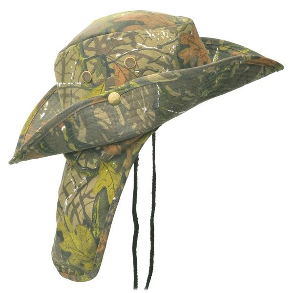 Faddism Men's Camo 3-inch Wide Brim Outdoor Hat