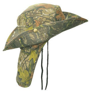 Faddism Men's Camo 3-inch Wide Brim Outdoor Hat