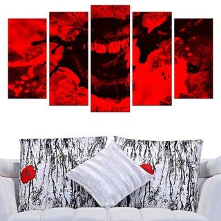 Speak Out Red Lips' Canvas Print