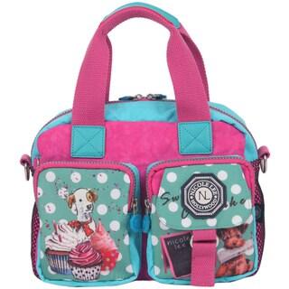 Nicole Lee Cupcake Dog Print Crinkle Nylon Handbag