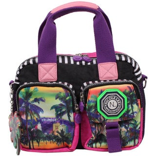 Nicole Lee Hollywood Print Nylon Multi-Function Handbag