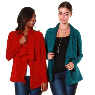 Hadari's Women's 2 Set Bundle Shawl Collar Cardigan