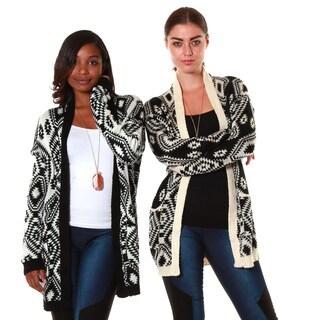 Hadari's Women's Bundle 2-pocket Tribal Grandma Cardigan (Set of 2)