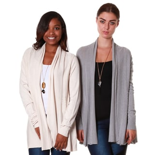 Hadari's Women's Bundles Shawl Collar Cardigan (Set of 2)
