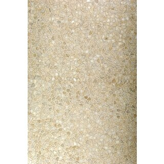 Hair On Hide White Area Rug (8' x 11')