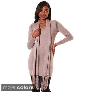 Hadari's Women's Long Sleeve Tunic with Scarf
