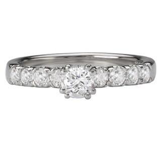 Avanti 14k White Gold 3/4ct TDW Eight-stone Diamond Engagement Ring (G-H, SI1-SI2)