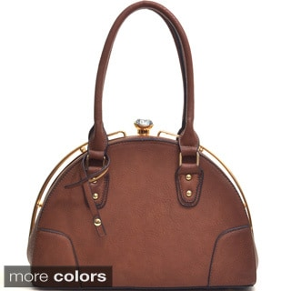 Dasein Jewel-top Crescent Satchel