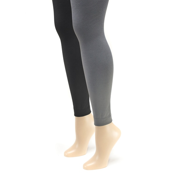 Women's Fleece Lined Footless Tights (Pack of 2) 14295061