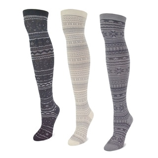 Women's Microfiber Mixed Pack Over-the-Knee Socks (3 Pairs)