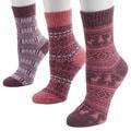 Muk Luks Women's Bright Holiday Crew Sock Pack (3 Pairs)