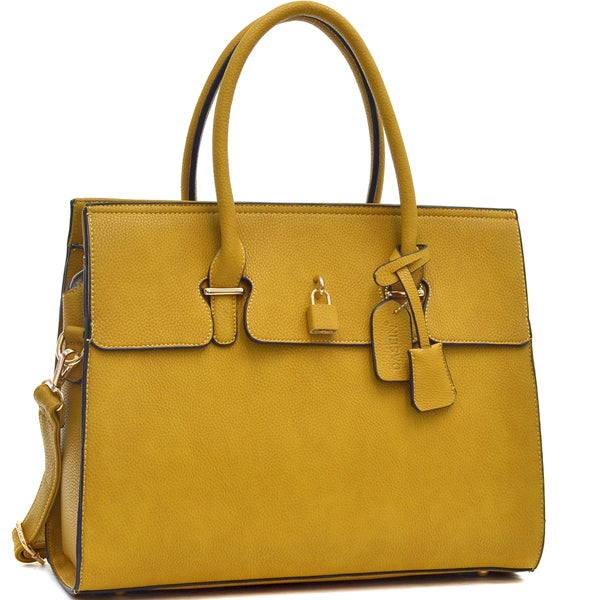 Dasein Adjustable Top Padlock Fashion Tote