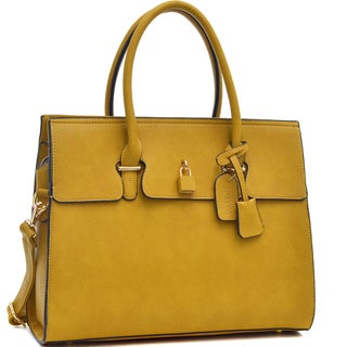 Isabelle Adjustable Top Padlock Fashion Tote