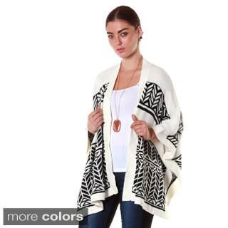 Hadari's Women's Multi-pattern Cardigan
