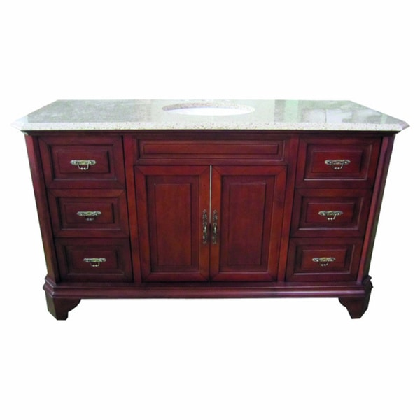 60 inch wide single sink bathroom vanity in brown overstock shopping