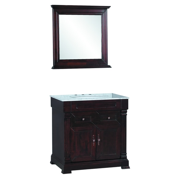 31 inch wide single sink bathroom vanity in brown