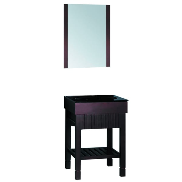 Simple Angie Single 24Inch White Plantation Style Bathroom Vanity