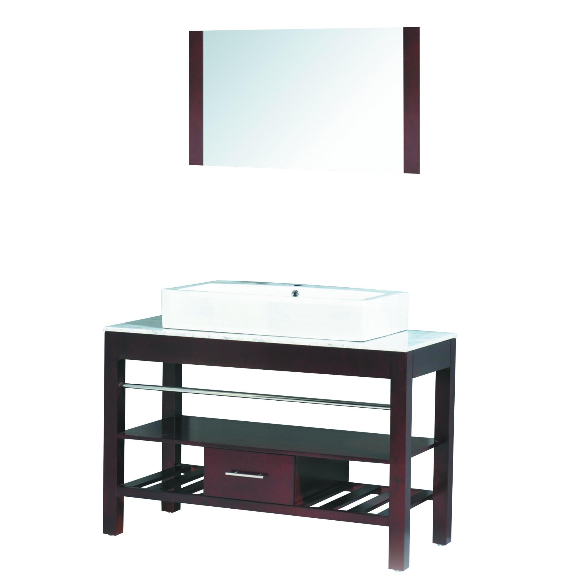 47 inch Wide Single Sink Bathroom Vanity in Espresso Overstock Shopping G