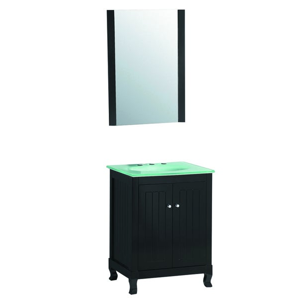 Innovative 24T Grey Chatham Shaker Collection 24 Inch Wide Bathroom Vanity