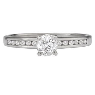 Avanti 14k White Gold 1/2ct TDW Channel-set Diamond Ring (G-H, SI1-SI2)