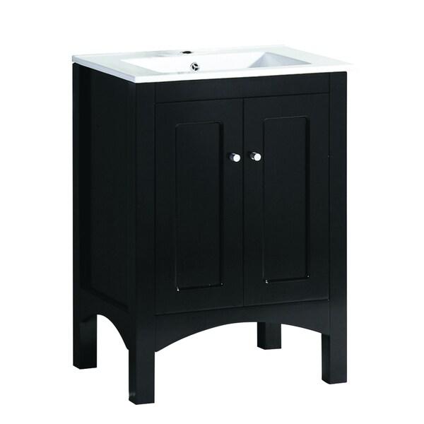 Black 23 5 Inch Wide Single Sink Bathroom Vanity