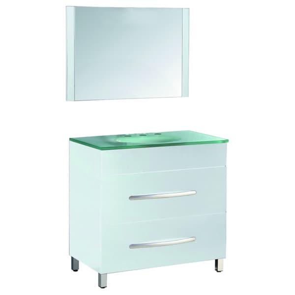 35 5 inch wide single sink bathroom vanity in white overstock