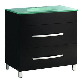 35.5-inch Wide Single Sink Bathroom Vanity in Black