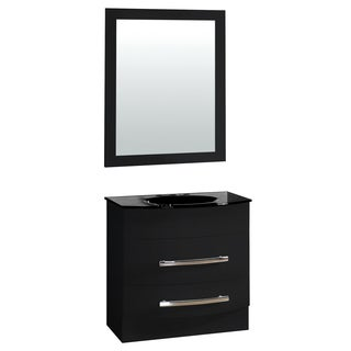 31.5-inch Black Wide Single Sink Bathroom Vanity