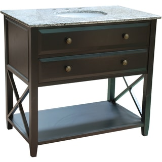 36-inch Wide Single Sink Bathroom Vanity in Black