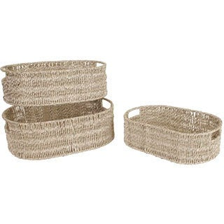 Sizzle Weave Baskets (Set of 3)