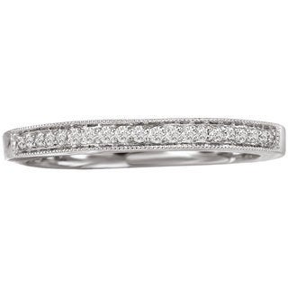Avanti 14k White Gold 1/10ct TDW Vintage Milgrain Diamond Wedding Band (G-H, SI1-SI2)