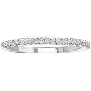 Avanti 14k White Gold 1/10ct TDW Diamond Wedding Band (G-H, SI1-SI2)