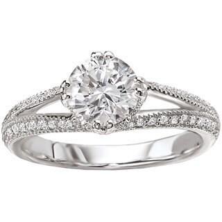 Avanti 14k White Gold 5/8ct TDW Milgrain Detailed Round Diamond Ring (G-H, SI1-SI2)