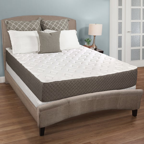 Select Luxury Medium-firm Quilted Top 10-inch Full-size Foam Mattress Set with EZFit Foundation