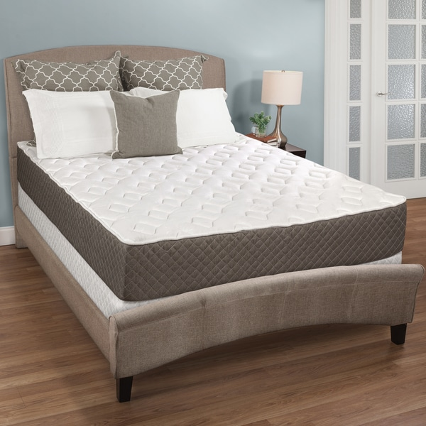 Select Luxury Medium-firm Quilted Top 10-inch King-size Foam Mattress Set with EZFit Foundation