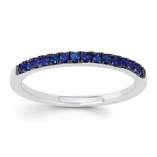 14k White Gold Stackable Sapphire Ring