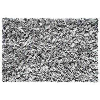 Shaggy Raggy Silver Rug (2.8' x 4.8')