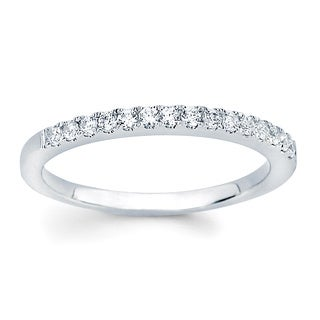 14k White Gold Diamond Wedding Band (I-J, I1-I2)