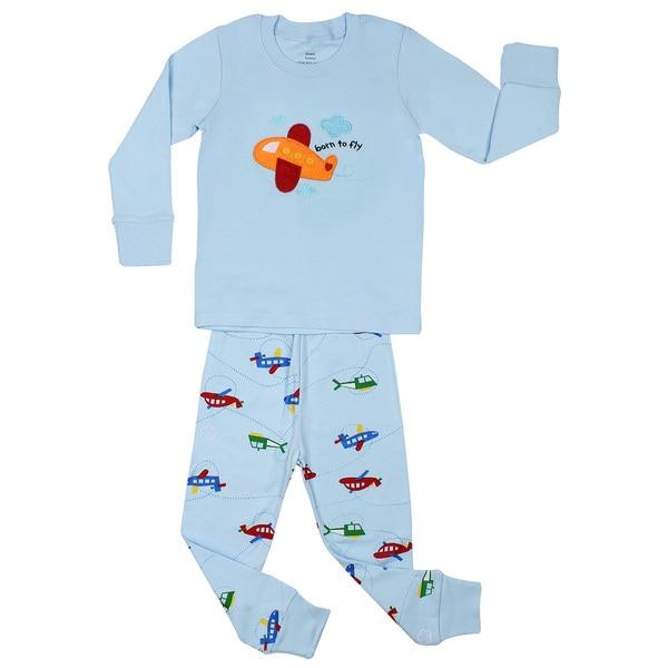 Elowel Boys' Airplane 2-piece pajama set (Size 2-8Y)
