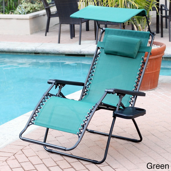 oversized multi color options zero gravity sunshade chair with drink