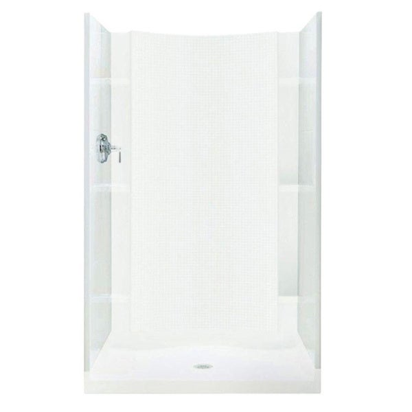 Accord (36 x 36 x 77) 2-piece White Direct-to-Stud Shower End Wall Set