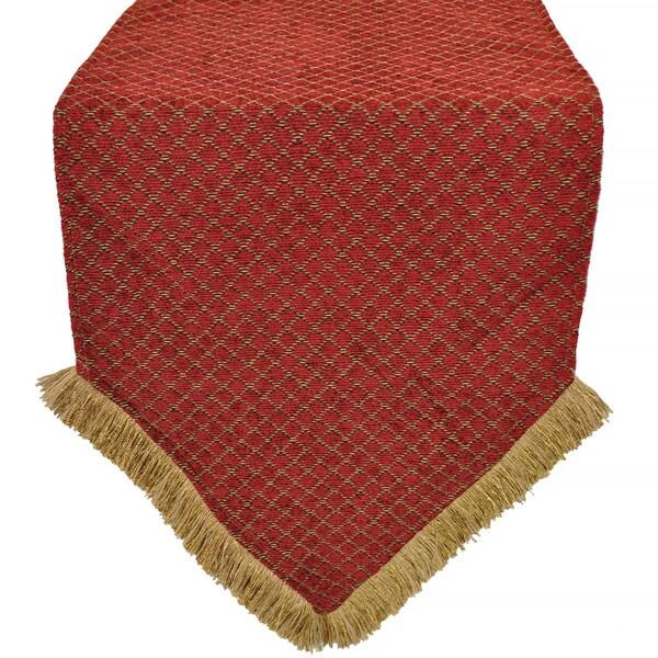 Overstock  table  Table  Chenille Diamond red Runner Luxury  Sherry runner Red  Kline